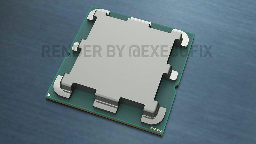 Wizualizacja procesora AMD zgodnego z podstawką AM5
