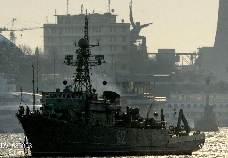 Krym. Rosja wystrzeliła pociski w stronę brytyjskiego okrętu