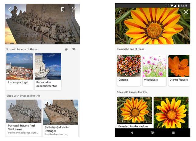 Zaktualizowana aplikacja Bing podczas wyszukiwania informacji na bazie obrazu.