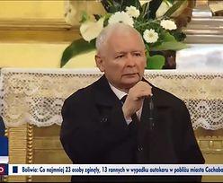 """""""PILNE!"""". Kaczyński na pogrzebie. TVP Info aż przerwało konferencję ministra"""