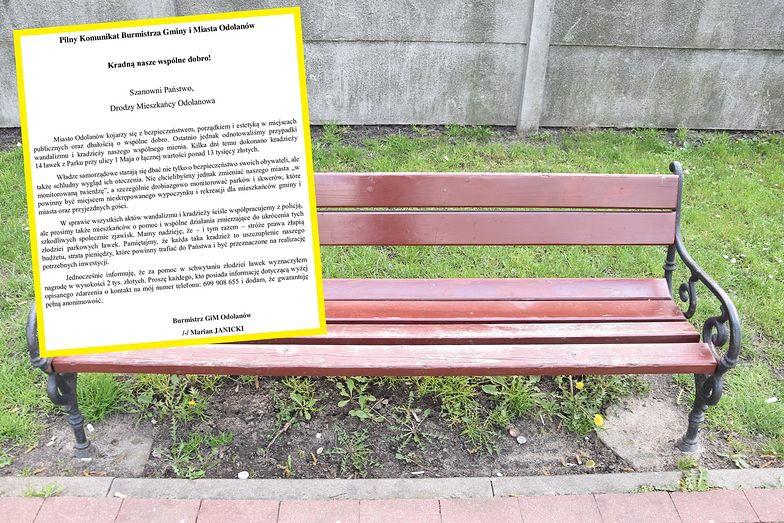 Nietypowa kradzież w Odolanowie. Burmistrz wyznaczył nagrodę za wskazanie sprawców
