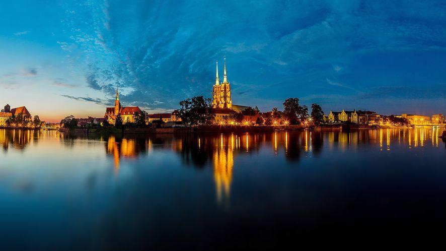 Wrocław o zmierzchu z depositphotos