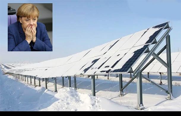 Panele pod śniegiem, wiatraki stoją. Niemcy mają problem...