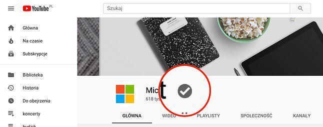 Tak wygląda obecnie plakietka zweryfikowanego kanału na YouTube