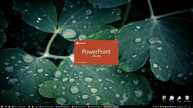 PowerPoint czasem każe na siebie trochę poczekać