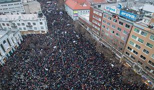 Na Słowacji trwają protesty przeciwko rządowi premiera Roberta Fico