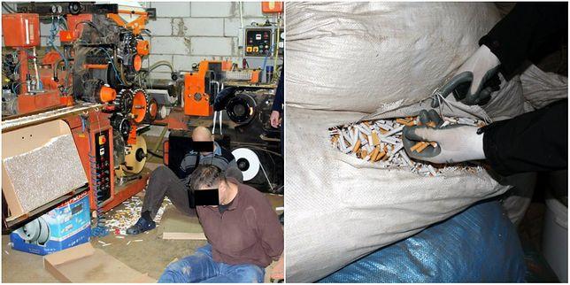 Prowadzili nielegalną wytwórnię papierosów. Zatrzymano 11 osób