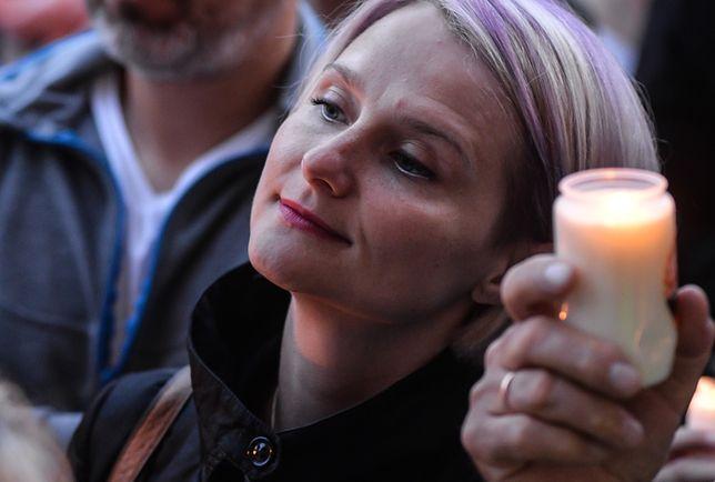 Magdalena Wałęsa na manifestacji w Gdańsku