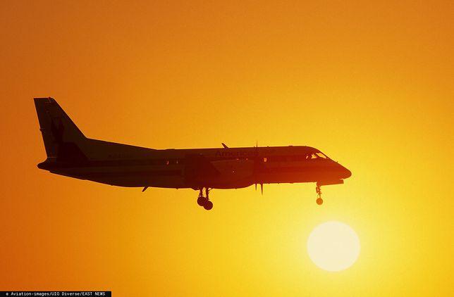 Katowice. Awaryjne lądowanie samolotu na lotnisku (zdjęcie ilustracyjne)