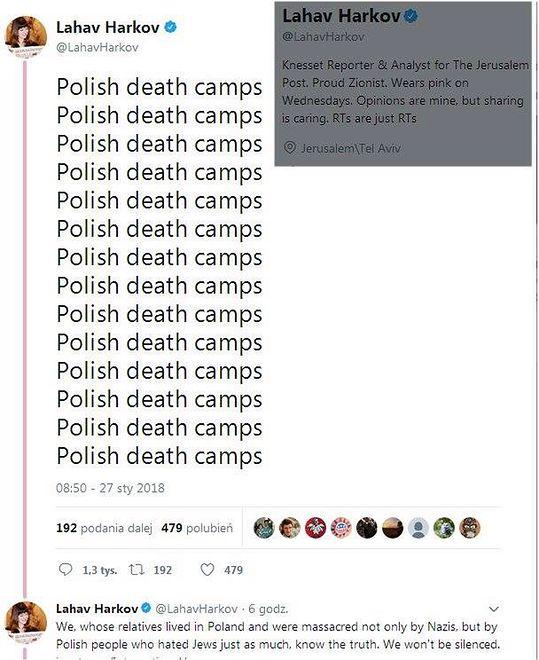 """Polskie obozy śmierci, polskie obozy śmierci…"". Izraelska reporterka rzuca oskarżenia"