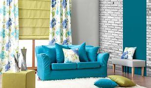 Aranżacja salonu w żywych kolorach