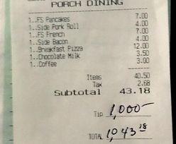 Kelner się rozpłakał, kiedy spojrzał na rachunek. Wielki napiwek od klienta