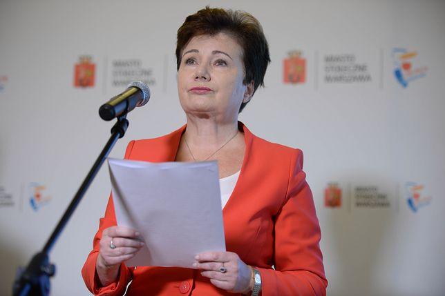 """Hanna Gronkiewicz-Waltz o słowach premiera. """"Na Kremlu otwierają szampana"""""""