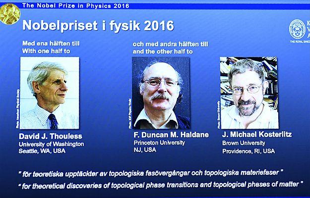 Trzech laureatów nagrody Nobla z fizyki za badania w dziedzinie kwantów