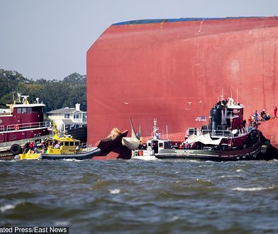 USA. Udało się uratować czterech członków załogi uwięzionych na pokładzie Golden Ray