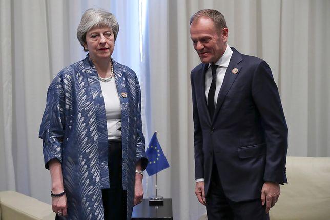 Theresa May i Donald Tusk w Szarm el-Szejk