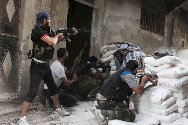 Rebelianci z Wolnej Armii Syryjskiej