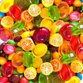 Dropsy gumowe bez dodatku cukru lub o niskiej zawartości kalorii (z sorbitolem)