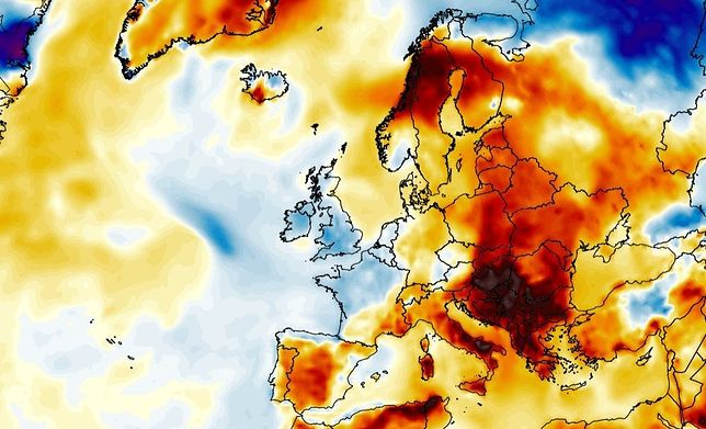 Pogoda. Upały w Europie