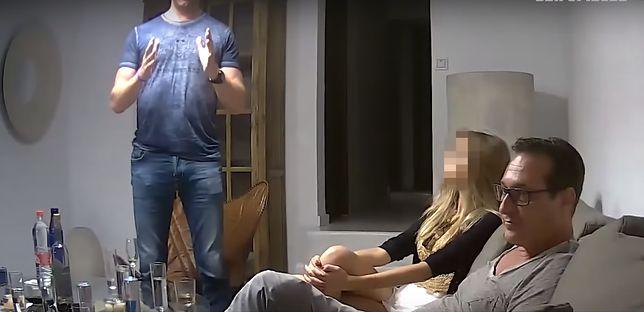 """Heinz-Christian Strache i """"Alona"""" podczas spotkania na Ibizie"""