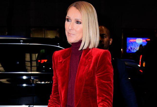 Celine Dion zachwyciła fanów czerwoną kreacją