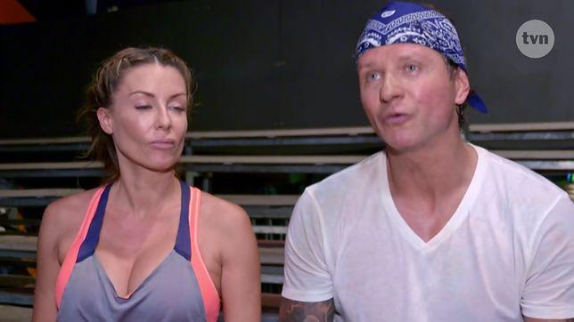 """Kadr z nowego programu TVN """"Iron Majdan"""". W pierwszym odcinku Małgorzata i Radosław uczyli się wrestlingu w Las Vegas."""