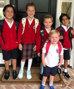 Dzieci Bode Millera wróciły do szkoły. Żona porównała dwa zdjęcia