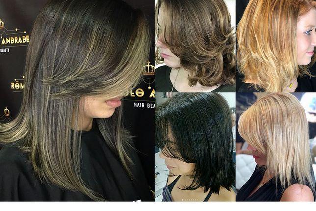 Cieniowane fryzury z włosów do ramion dodają kosmykom objętości