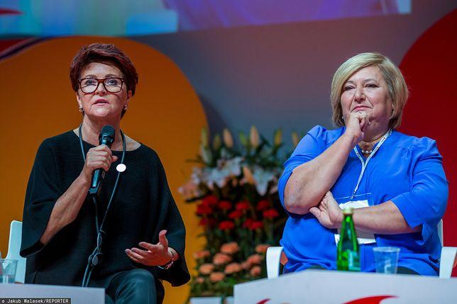 Jolanta Kwaśniewska i Anna Komorowska