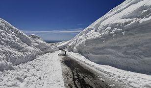 Karkonosze. Śnieżny tunel