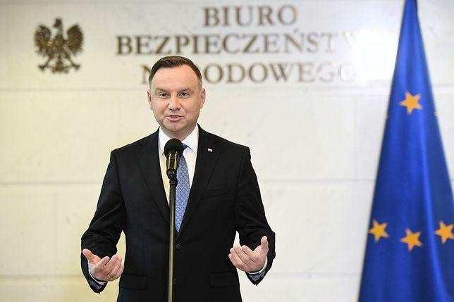 Koronawirus z Chin. Briefing prasowy prezydenta Andrzeja Dudy