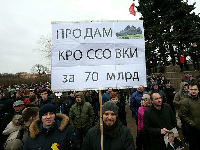 Antykorupcyjny protest w Sankt Petersburgu