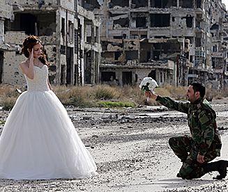 Niezwykła sesja zdjęciowa w Homs