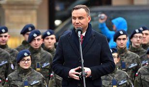 Andrzej Duda przemawiał w Kamiennej Górze