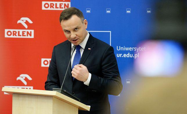 Andrzej Duda przemawiał w Rzeszowie