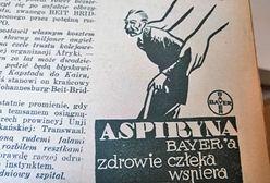 """""""Aspiryna Bayera zdrowie człeka wspiera"""". Tak wyglądały reklamy w prasie z lat 30."""