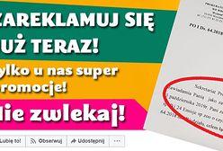 """Miała być jedna reklama za 300 zł. Przyszła faktura na kilka tysięcy lub """"propozycja ugody"""""""