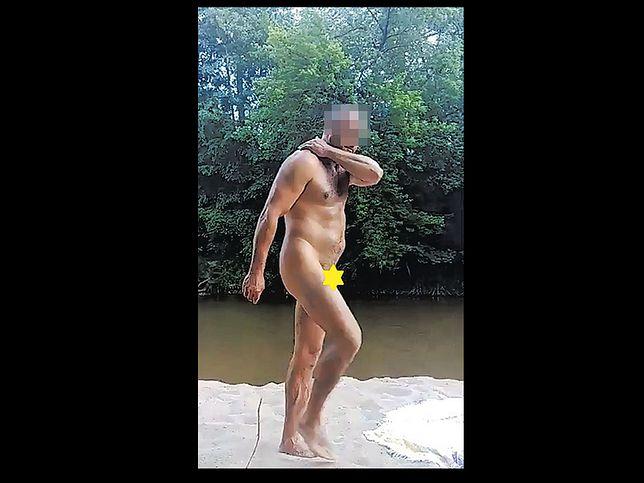 Mężczyzna paradował nago po plaży nad Świdrem