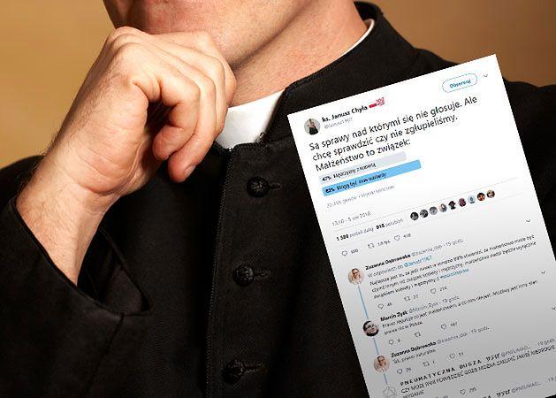 Ksiądz zamieścił sondę na Twitterze. Wynik mógł go zaskoczyć