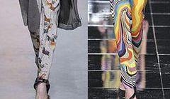 Wzorzyste spodnie - trend na zimę 2014!