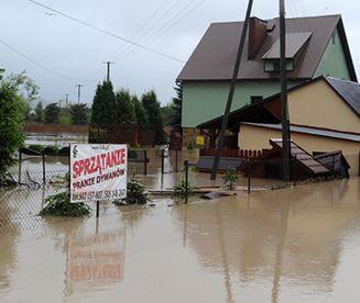 Ulewne deszcze na południu Polski