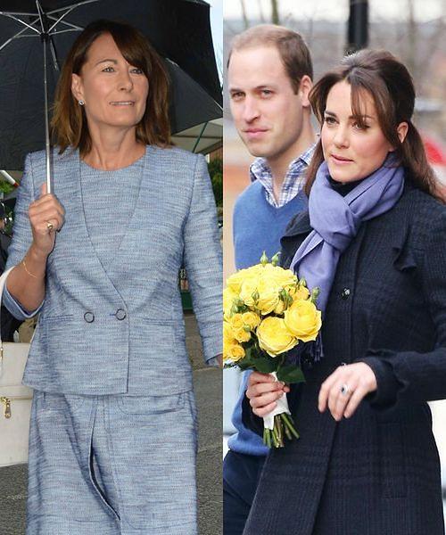 Carole Middleton, księżna Kate, książę William