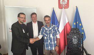 Krzysztof Wilamowski, Michał Wójcik i Paweł Bednarz