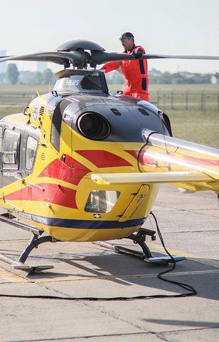 Poważnie ranną kobietę zabrał do szpitala śmigłowiec LPR