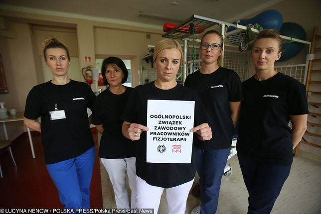 Protest fizjoterapeutów. Rehabilitanci strajkują m.in. w Świętochłowicach.