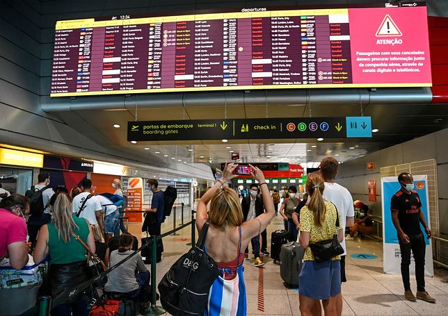 Tłumy na lotnisku w Lizbonie podczas lipcowego strajku