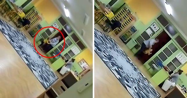 Łódź. Szarpała i rzucała 3-latkiem. Szokujące nagranie z przedszkola