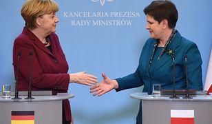 Premier Beata Szydło i kanclerz Niemiec Angela Merkel podczas spotkania w Warszawie w lutym 2017 r.