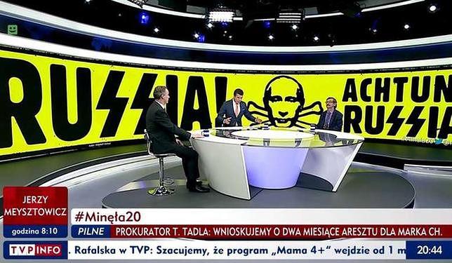 Burza o grafikę w TVP Info. Jest pismo ambasady rosyjskiej