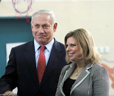 Benjamin i Sara Netanjahu po oddaniu głosów w wyborach parlamentarnych 10 lutego 2019 roku